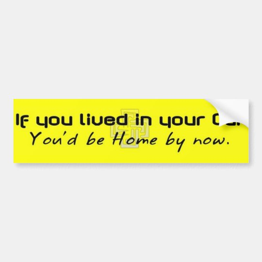 ifyoulivedinyourcar bumper sticker