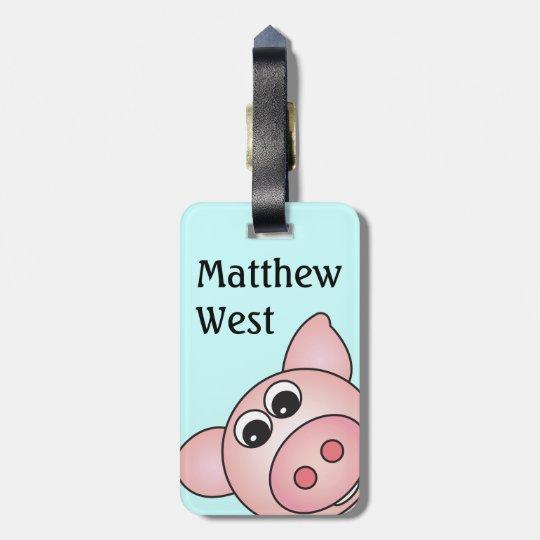 Iggy the Piggy Bag Tag