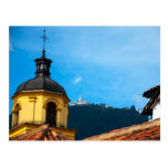 Iglesia amarilla y Monserrate Postcard