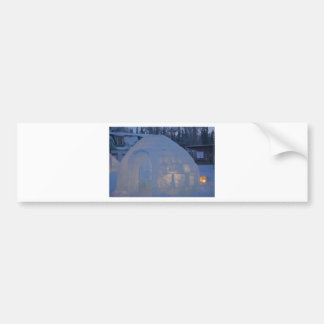 Igloo  building water crystals  compression bumper sticker