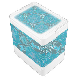 Igloo can cooler Jimette Design grey and blue Igloo Cool Box