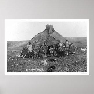 Igloo & Eskimo Family 1906 Poster