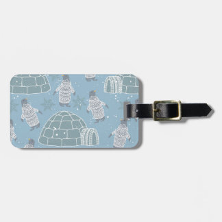 Igloos and Penguins Pattern Luggage Tag