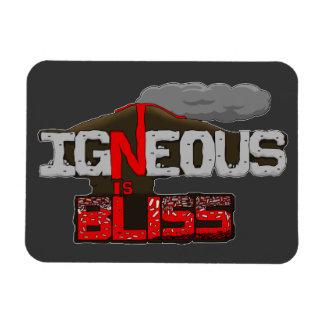 Igneous is Bliss Volcano Rectangular Photo Magnet