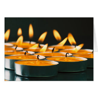 Ignited candles basic yellow card