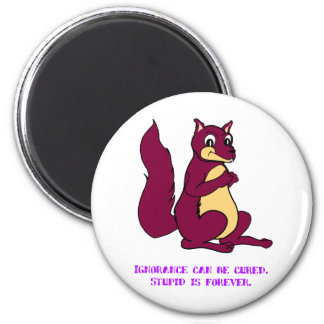 Ignorance can be cured. Stupid is forever. 6 Cm Round Magnet