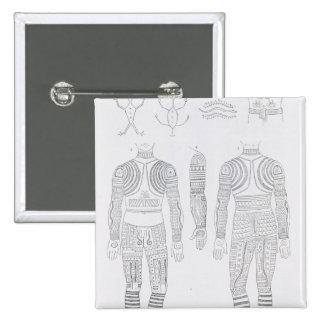 Igorrote tattooing 15 cm square badge