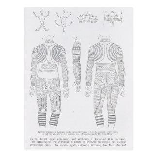 Igorrote tattooing postcard