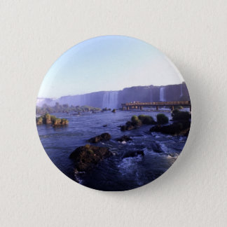 Iguacu Falls Brazil and Argentina 6 Cm Round Badge