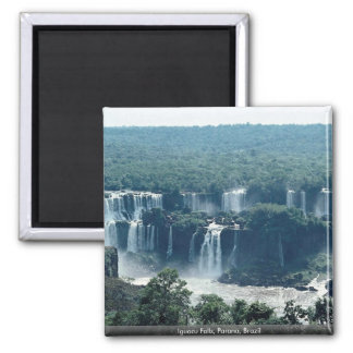 Iguacu Falls, Parana, Brazil Square Magnet