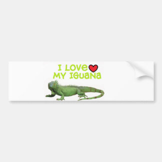 "Iguana Bumper Sticker"" I love my Iguana"" Bumper Sticker"