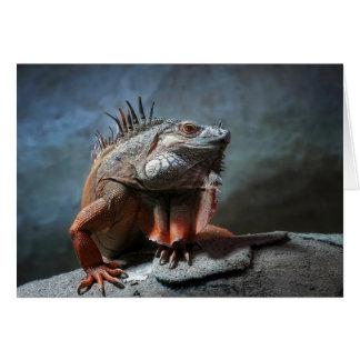 Iguana Greeting Card