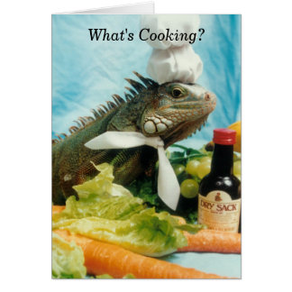 Iguana Chef Greeting Card