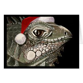 Iguana Christmas Card