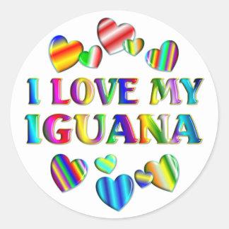 Iguana Classic Round Sticker