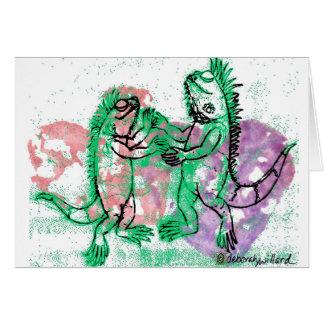 Iguana Dance with You Greeting Card