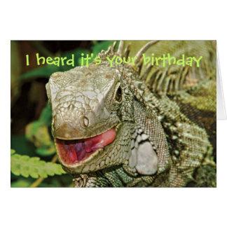 Iguana funny birthday greeting card