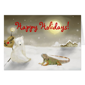 Iguana Holiday card