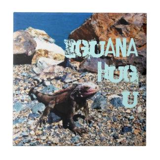 Iguana Hug U Tile