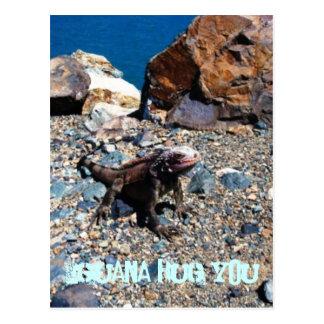 Iguana Hug You Postcards