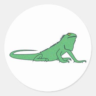 Iguana iguana classic round sticker