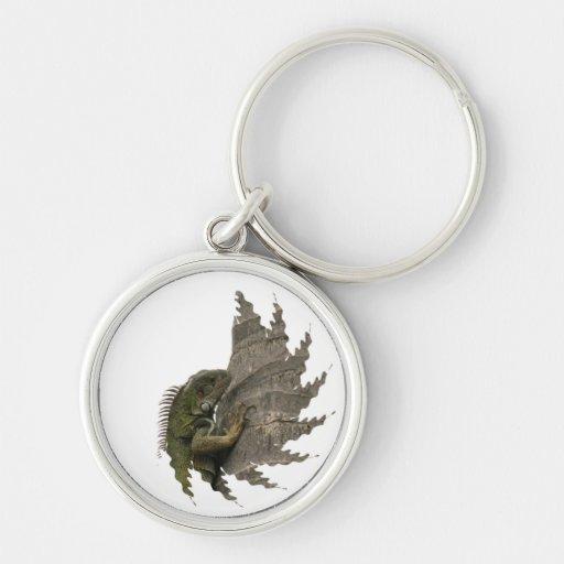 Iguana Image Keychain