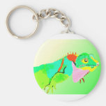 Iguana in Color Key Chain