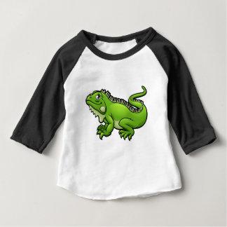 Iguana Lizard Cartoon Character Baby T-Shirt