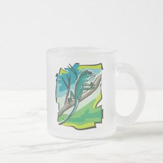 Iguana Frosted Glass Mug