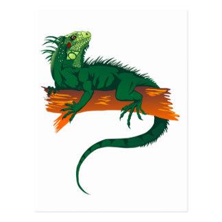 Iguana on a Branch Postcard