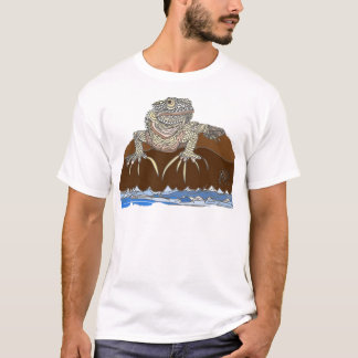 iguana on a Rock with Hermit Crab T-Shirt