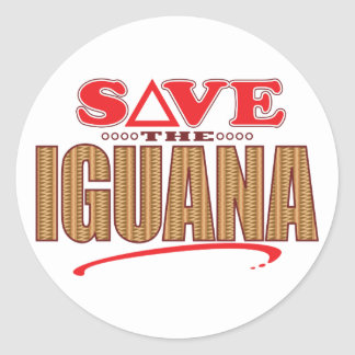 Iguana Save Classic Round Sticker