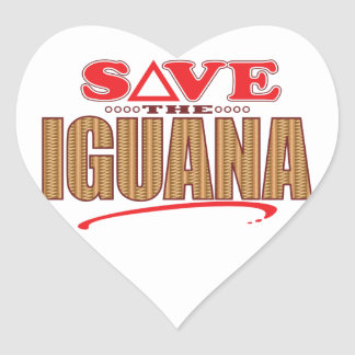 Iguana Save Heart Sticker