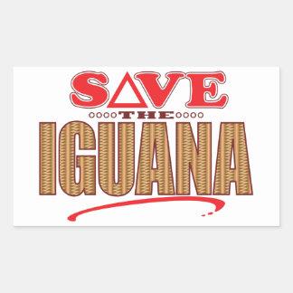 Iguana Save Rectangular Sticker