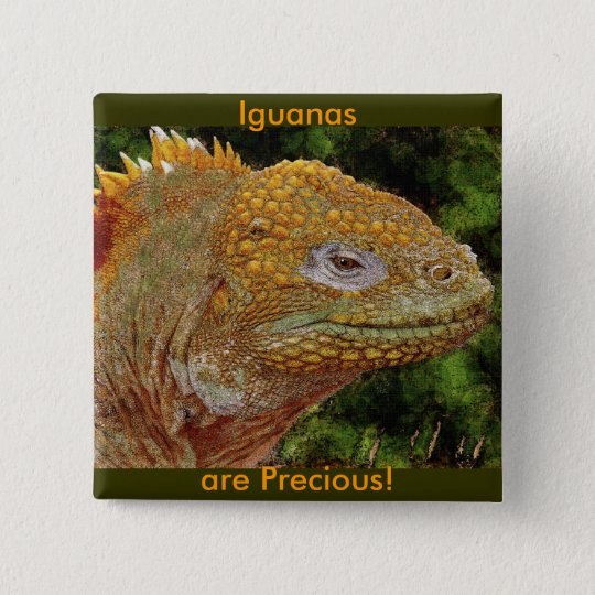IGUANA WARRIOR Art 15 Cm Square Badge