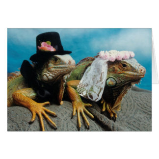 Iguana Wedding Greeting Card