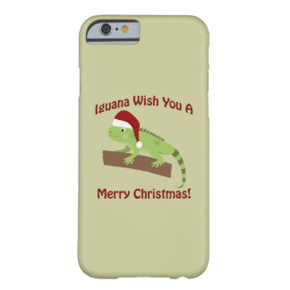 Iguana Wish You A Merry Christmas Barely There iPhone 6 Case