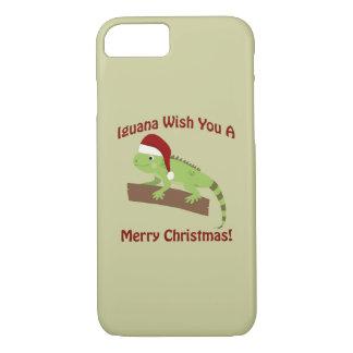 Iguana Wish You A Merry Christmas iPhone 7 Case