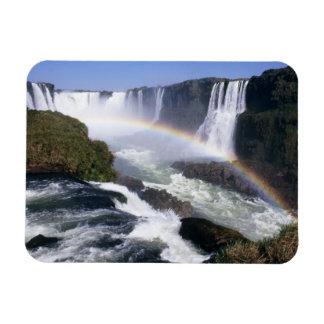 Iguassu Falls, Parana State, Brazil. Aerial view Rectangular Magnet