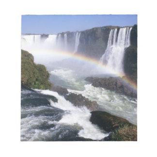 Iguassu Falls, Parana State, Brazil. Aerial view Notepad
