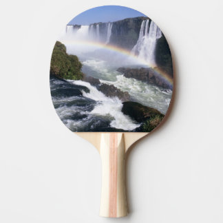 Iguassu Falls, Parana State, Brazil. Aerial view Ping Pong Paddle