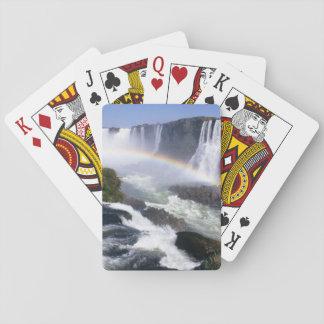 Iguassu Falls, Parana State, Brazil. Aerial view Playing Cards