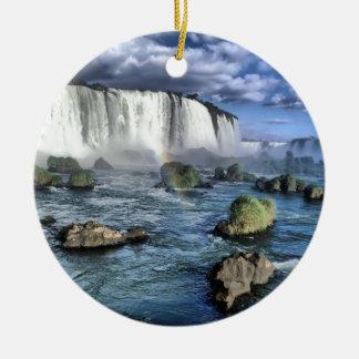 Iguasu falls Brazil Christmas Ornament