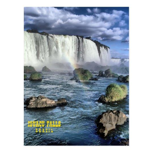 Iguasu falls Brazil Postcard