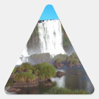 Iguazu Falls 2 Triangle Sticker