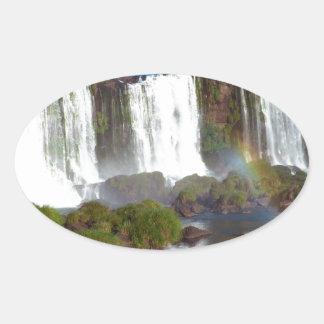 Iguazu Falls 2 Oval Sticker