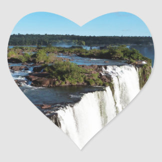 Iguazu Falls 3 Heart Sticker