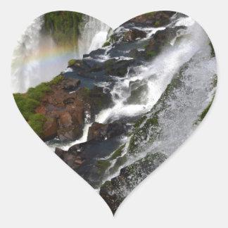 Iguazu Falls 5 Heart Sticker