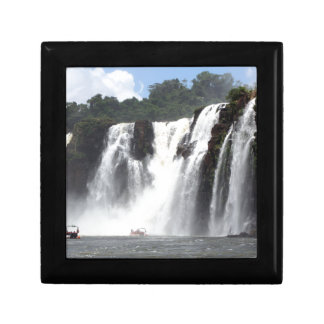 Iguazu Falls and boats, Argentina Small Square Gift Box