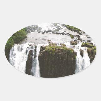 Iguazu Falls Oval Sticker